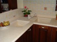 piano di cucina di marmo